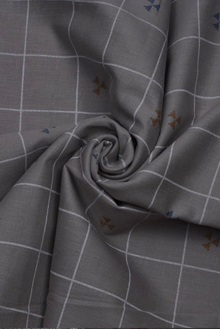 Light Grey Cotton  Lining Print Fabric
