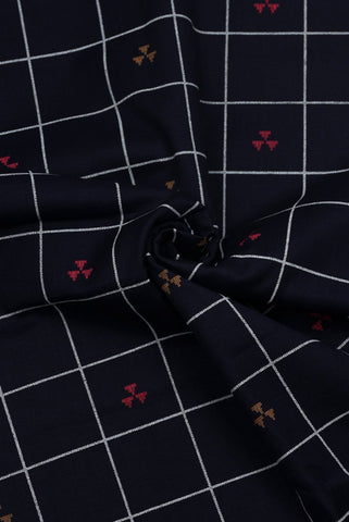 Navy Blue Cotton Lining Printed Fabric