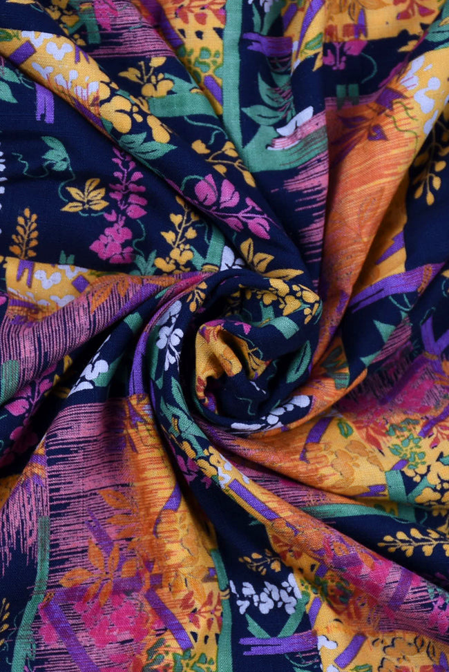 Multi Color Floral Printed Cotton Fabric