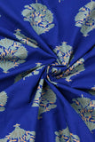 Blue Flower Printed Rayon Fabric
