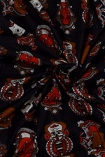 Black  King & Queen Cotton Fabric