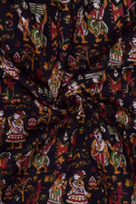 Black Object Print Cotton Fabric