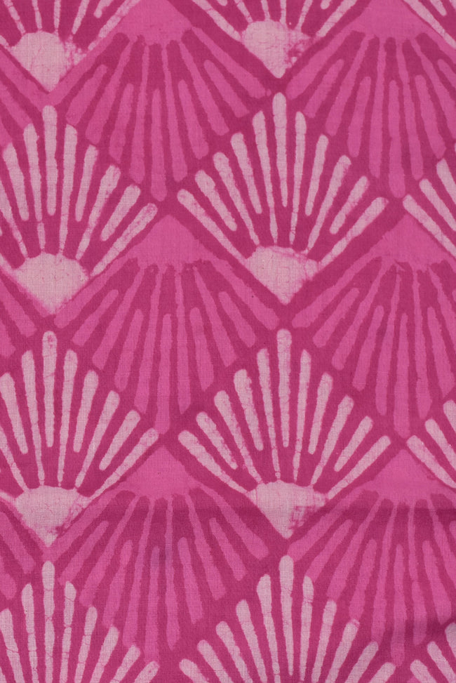 Pink Printed Cotton Fabric