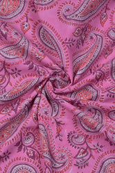Pink Butta Print Cotton Fabric