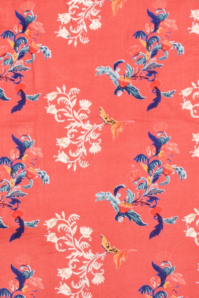 Flower Printed  Rayon Fabric