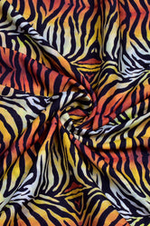 Multicolor Animal Print Muslin Fabric