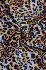 Light Brown Animal Print Muslin Fabric