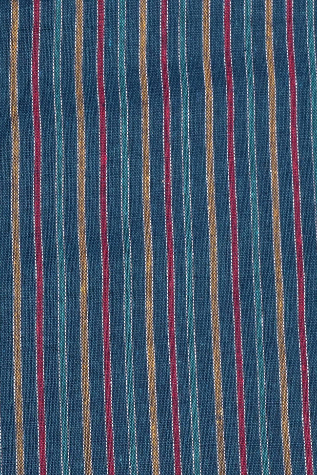 Multicolor Stripes Print Rayon Fabric