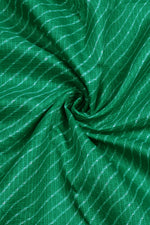 Green Checks Print Kota Doria Fabric