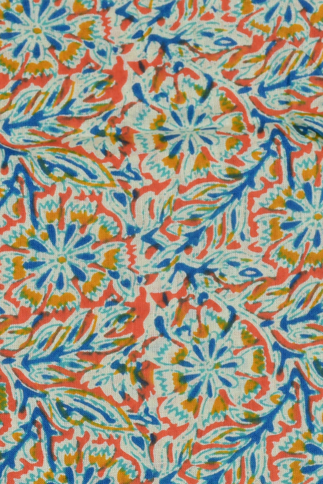 Multicolor Flower Print Cotton Fabric
