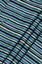 Multicolor Stripes Print Cotton Fabric