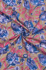Multicolor Flower Printed Cotton Fabric
