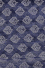 Grey Flower Print Brasso Silk Fabric