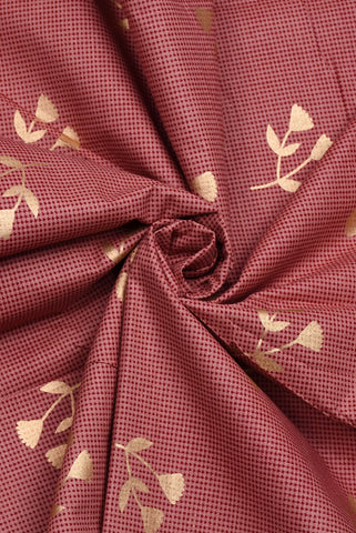 Gold  Flower Printed Screen Cotton Print Fabric