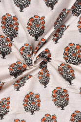 Light Grey Print Cotton Fabric