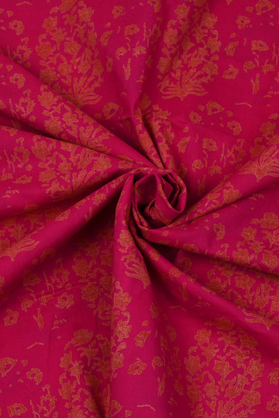 Red Flower Cotton Fabri
