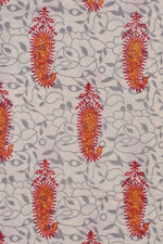 Cream Cotton Printed Fabric