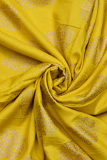Yellow Golden Rayon Print Fabric