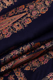 Navy Blue Rayon Print Fabric