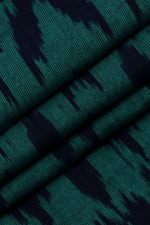 Green Black Ikat Fabric