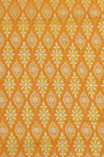 Yellow  Printed Cotton Fabric