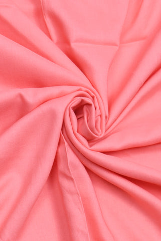 Simply Pink Peach Plain Rayon Fabric