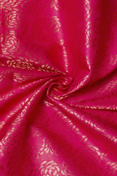 Red Brocquit Silk Fabric