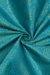 Green Brocquit Silk Fabric