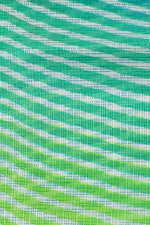 Blue & Green Stripes Print Kota Doria Fabric