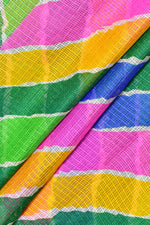 Multi Color Stripes Print Kota Doria Fabric