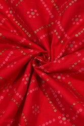 Red Bandhan Print Cotton Fabric