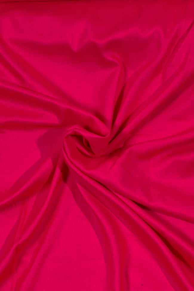 Dark Pink Plain  Rayon Fabric