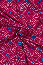Rani Color Bandhej Print Cotton Fabric