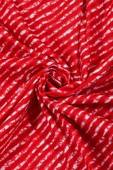 Red Leheriya Print Cotton Fabric