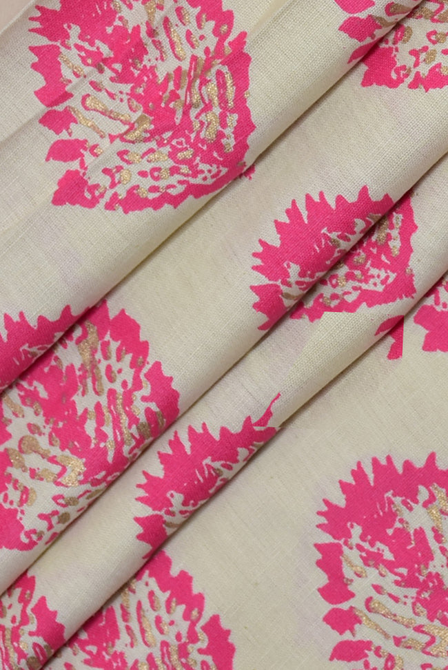 Gold Print Cotton Fabric