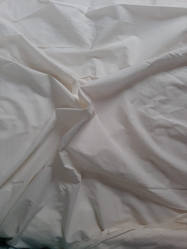 White Plain Cotton Fabric