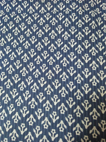 Blue Printed Cotton Fabric