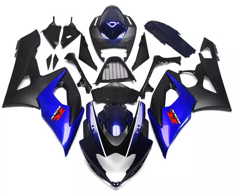 Black & Blue 2005-2006 Suzuki GSX-R 1000 K5 - Wicked Fairings