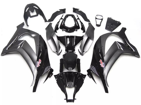 Black & Gray 2011-2015 Kawasaki ZX-10R - Wicked Fairings