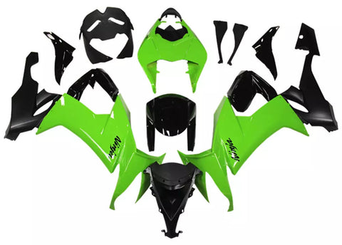Black & Green 2008-2010 Kawasaki ZX-10R - Wicked Fairings