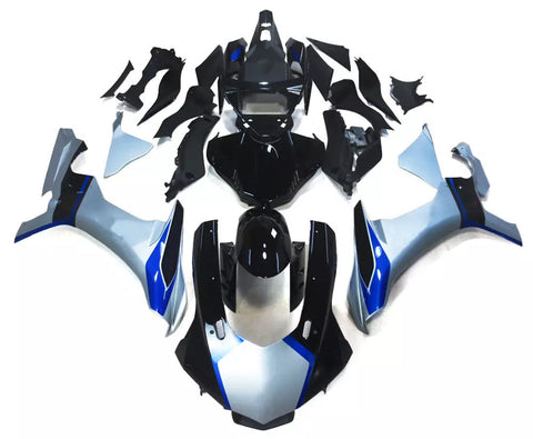 Black, Silver & Blue 2015-2017 Yamaha YZF-R1 - Wicked Fairings