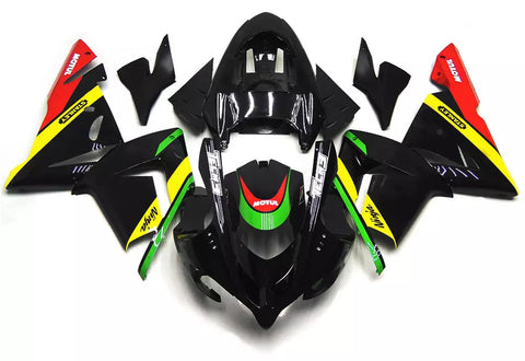 Black & Yellow 2004-2005 Kawasaki ZX-10R Fairings