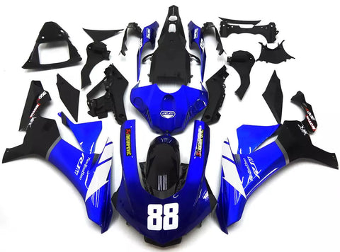 Blue, Black & White 2015-2017 Yamaha YZF-R1 - Wicked Fairings