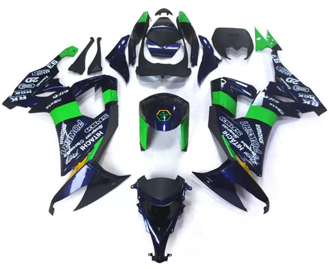 Blue & Green 2008-2010 Kawasaki ZX-10R - Wicked Fairings