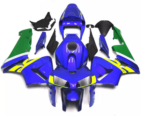 Blue, Green & Yellow 2005-2006 Honda CBR600RR - Wicked Fairings