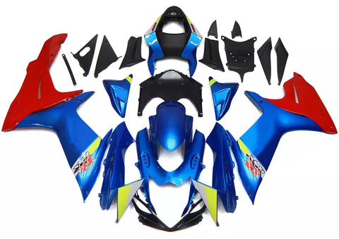 Blue & Red 2011-2016 Suzuki GSX-R 600/750 L1 - Wicked Fairings