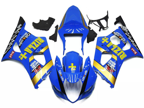 Blue Rizla+ 2003-2004 Suzuki GSX-R 1000 K3 - Wicked Fairings