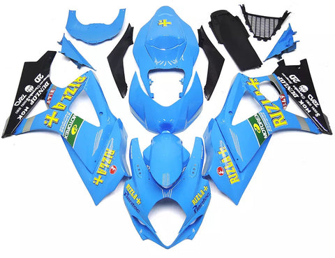 Blue Rizla+ 2007-2008 Suzuki GSX-R 1000 K7 Fairings