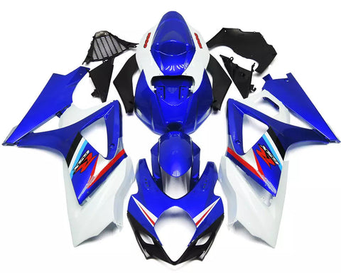 Blue & White 2007-2008 Suzuki GSX-R 1000 K7 Fairings