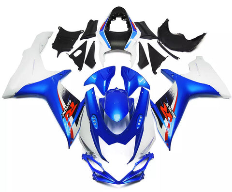 Blue & White 2011-2016 Suzuki GSX-R 600/750 L1 - Wicked Fairings